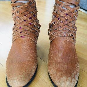 """Free people Brown 3"""" ankle booties"""